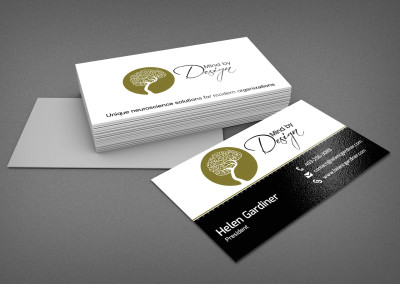Biz cards for Mind by Design